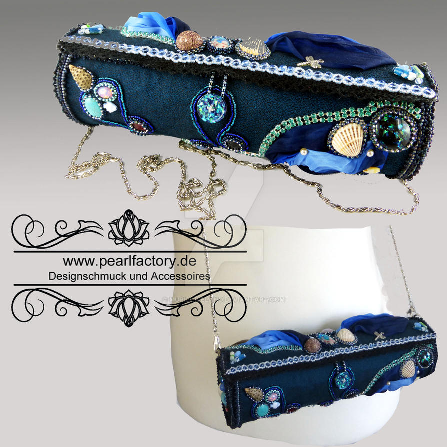 bag, handbag, handtasche, bead embroidery by Muriel-Leland