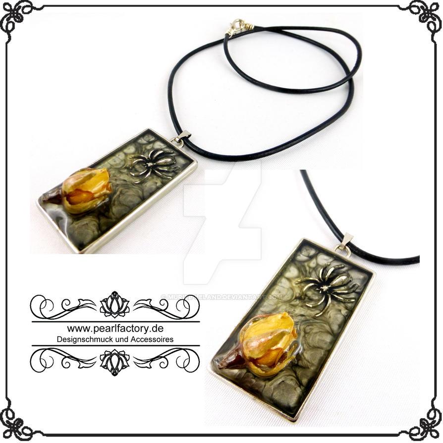 necklace halskette goth resin rose by muriel leland on deviantart. Black Bedroom Furniture Sets. Home Design Ideas