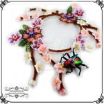 necklace, beadembroidery, halskette, schmuck