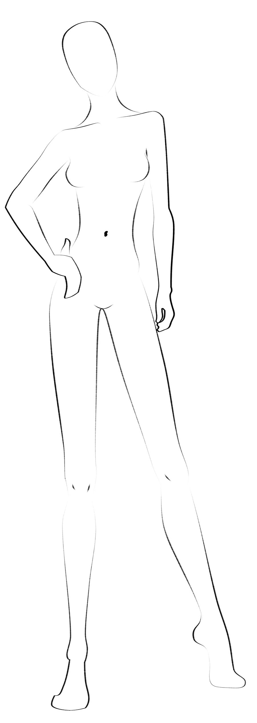 Fashion Templates Front And Back Coloring Pages
