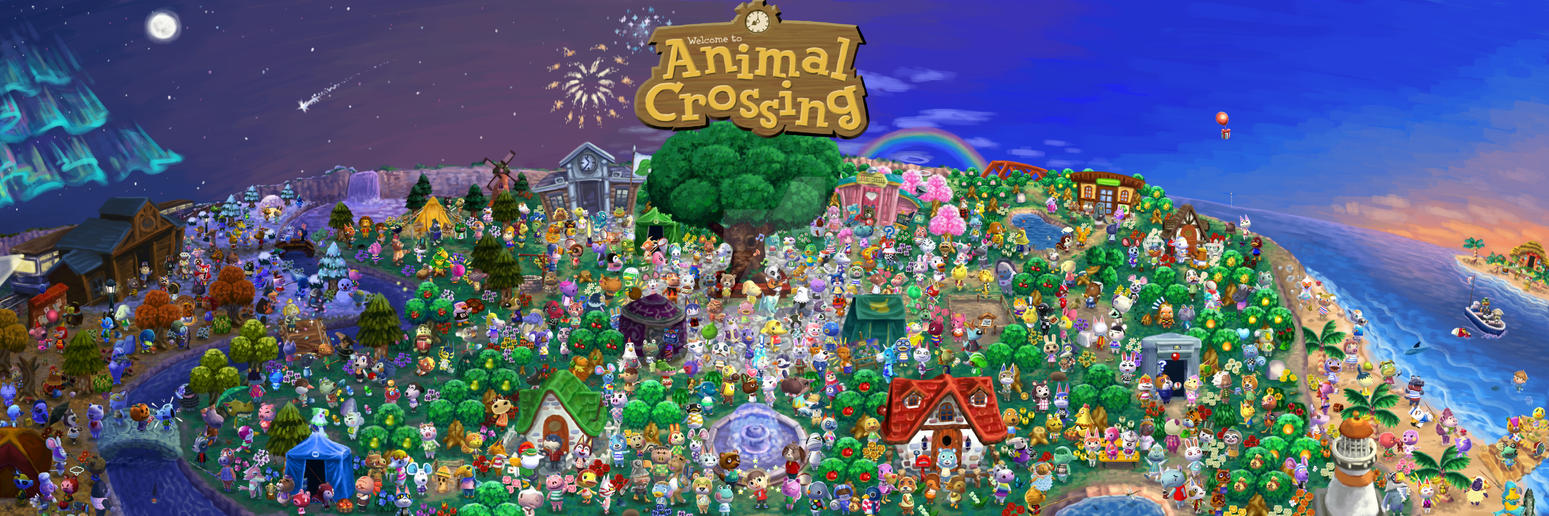 Animal Crossing Poster - Every villager painted by Viking011