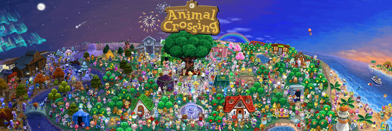Animal Crossing Poster - Every villager painted