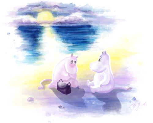 Moominpappa and Moominmamma