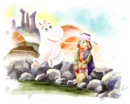 Moominpappa and The Muddler (Radd-djuret)