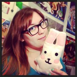 Freezer Bunny plushie by rosanakooymans