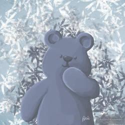 The Happy Blue Bear by rosanakooymans
