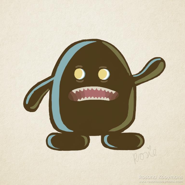 Random Monster by rosanakooymans