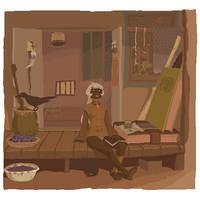 Witch's holiday by tsutsu-di