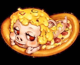i love pizza by tsutsu-di