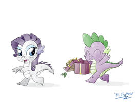Request Day 12.7 - Happy Christmas Spike by feather-chan
