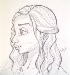 Daenerys cartoon sketch