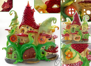 Fairy house lamp detail