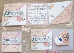 Trifold wedding card