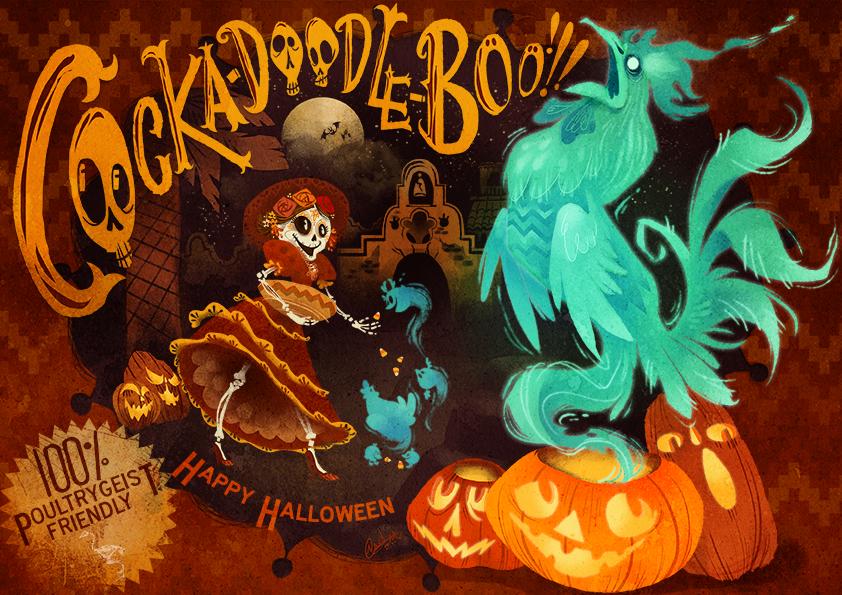 Cocka-Doodle-BOO! by Fairygodflea