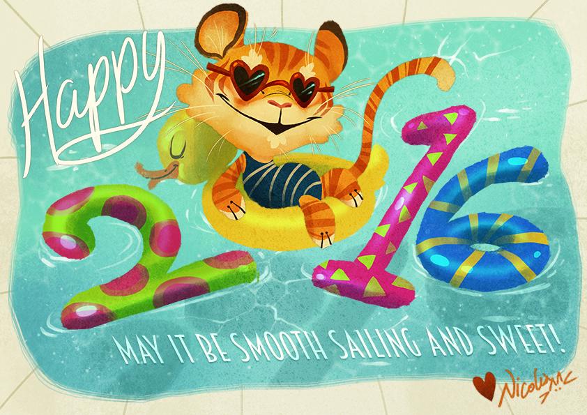 Happy 2016!! by Fairygodflea