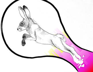 the Hare in flight by Dracogriff-art