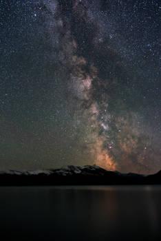 Milky Way over Abraham Lake 2418