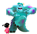 Boo and Sully by DreZX