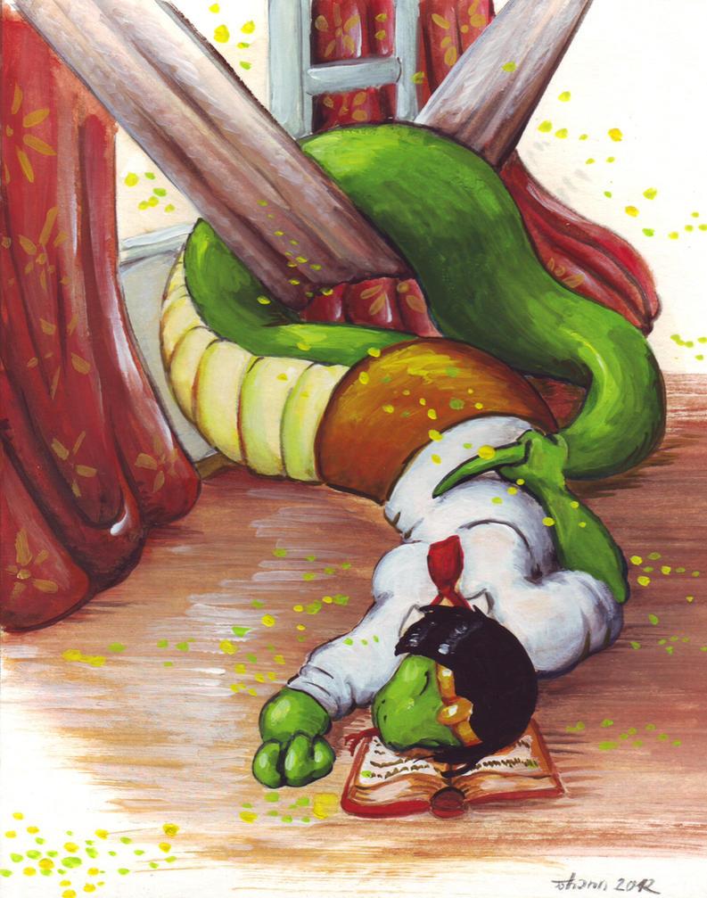 Sleepy snake by Cervelet