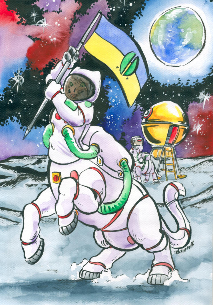 Cows from outer space by Cervelet
