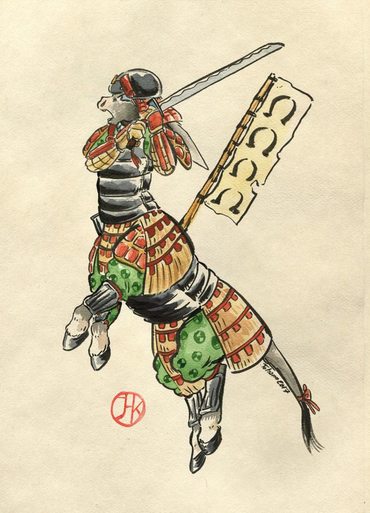 The Long-eared  Samourai by Cervelet