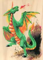Dragonicorn speedpaint by Cervelet