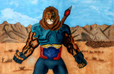 Lionman by The-Nemian-Lion