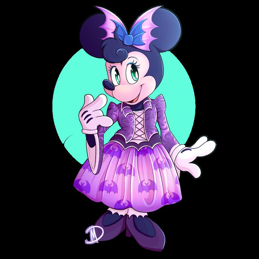 Minnie Mouse Celebrates Halloween
