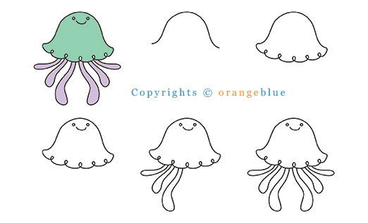 how to draw jellyfish by el te