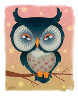 Owly night by eL-Te