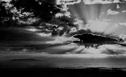 Racecoarse Beach Sunrise by garts1966