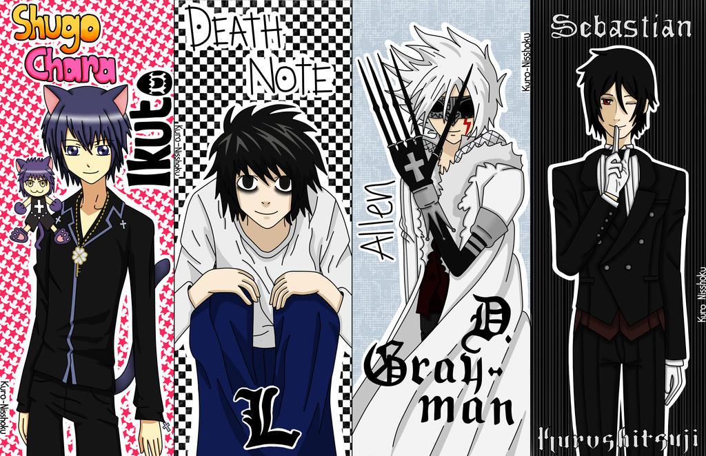 anime bookmarks set 1 by kuro nisshoku on deviantart