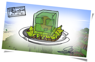 Minecraft: Slime Sandwich by pathed