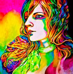 neon portrait 5 by ane-mon