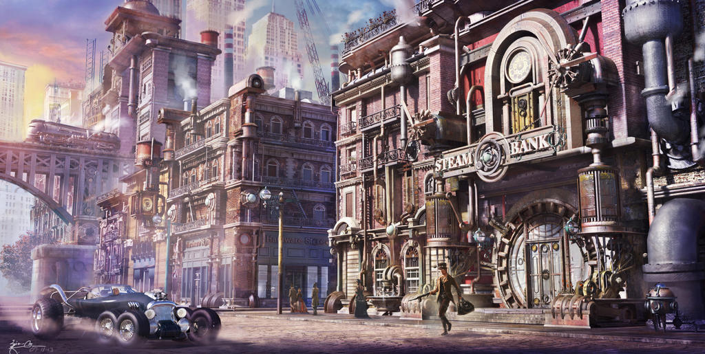 Steampunk Print Town By Giodesigns On Deviantart