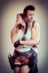 Lara Croft and Nathan Drake 01 by ImeldaCroft
