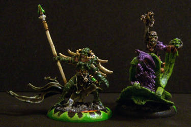 Deneghra and Skarlock by dcmechanix