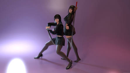 Misa and Kyoko