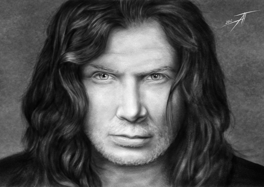 Dave Mustaine VIII by AnastasiumArt