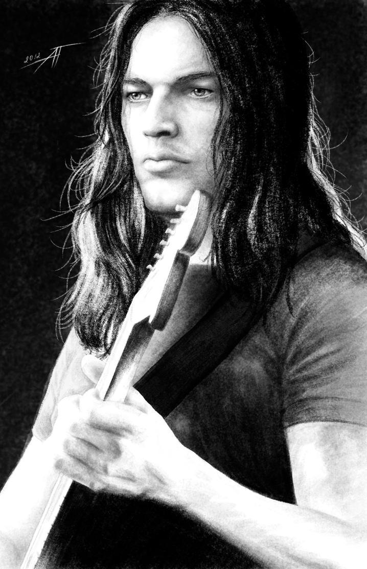 David Gilmour by AnastasiumArt