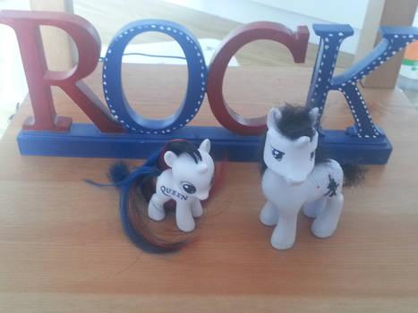 My little pony custom Mercury and Rhapsody