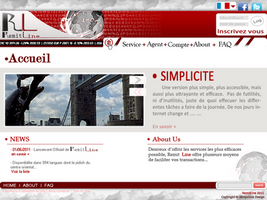 WebDesign - RemitLine by xtincell