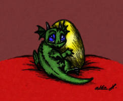 Lil' Baby Dragon Colored by Peppermynts
