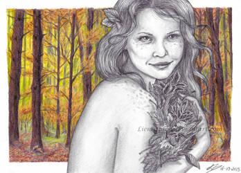 Autumn leaves by Liennepien