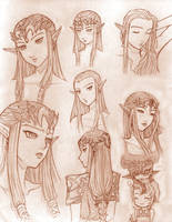 Expressions of Zelda by WhateverQ32