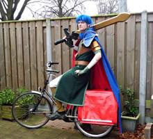 Ike on a bike