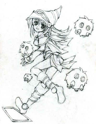 dark magician girl coloring pages - photo#15