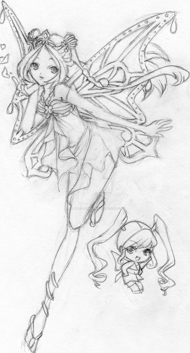 Flora winx club by butterflywingies on deviantart for Winx club coloring pages flora