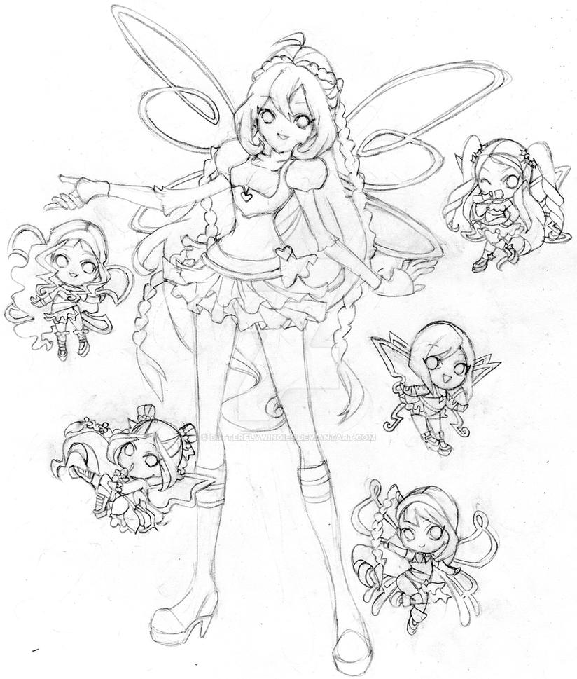 Bloom winx club chibi believix by butterflywingies on for Bloom winx coloring pages