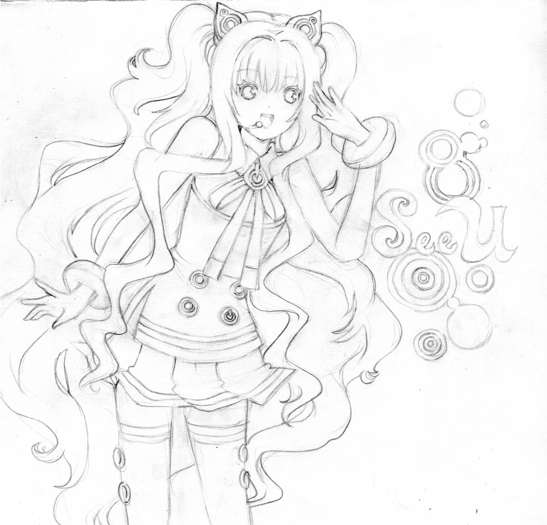 vocaloid seeu chibi coloring pages - photo#2